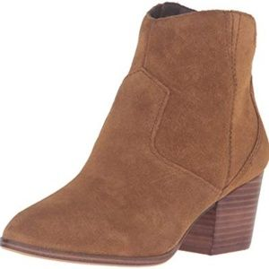 Aldo Brown Suede Square Heel Western Booties 8.5
